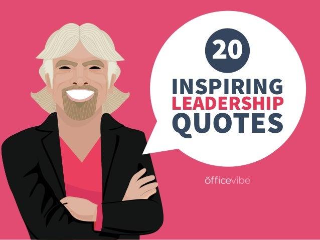 20 INSPIRING LEADERSHIP QUOTES