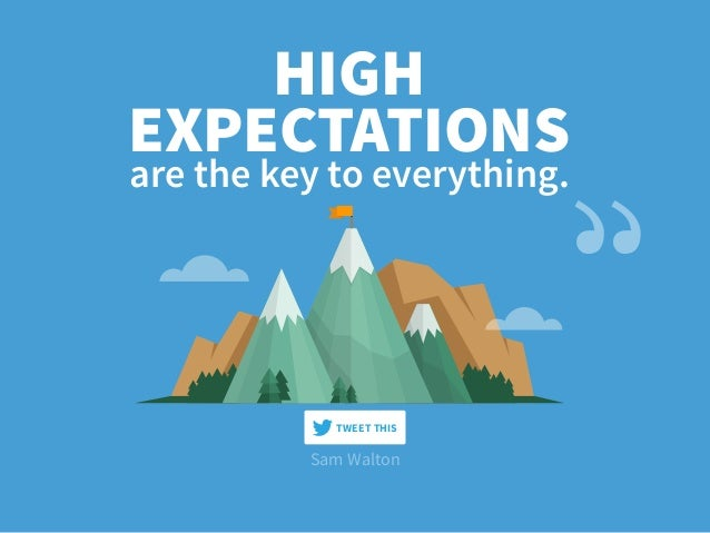 are the key to everything. HIGH EXPECTATIONS Sam Walton TWEET THIS