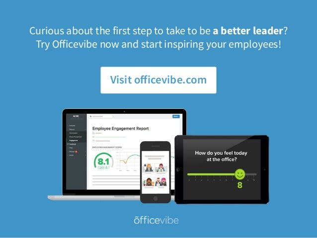 Curious about the first step to take to be a better leader? Try Officevibe now and start inspiring your employees! Visit o...