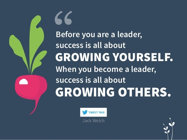 GROWING YOURSELF. GROWING OTHERS. Before you are a leader,  success is all about When you become a leader,  success is a...