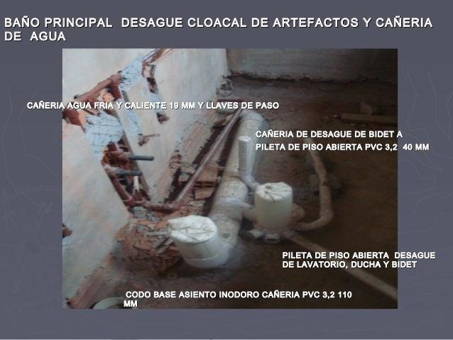 Inst sanitaria en ejecucion en obra for Desague bidet
