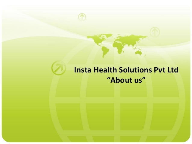"""Insta Health Solutions Pvt Ltd         """"About us"""""""