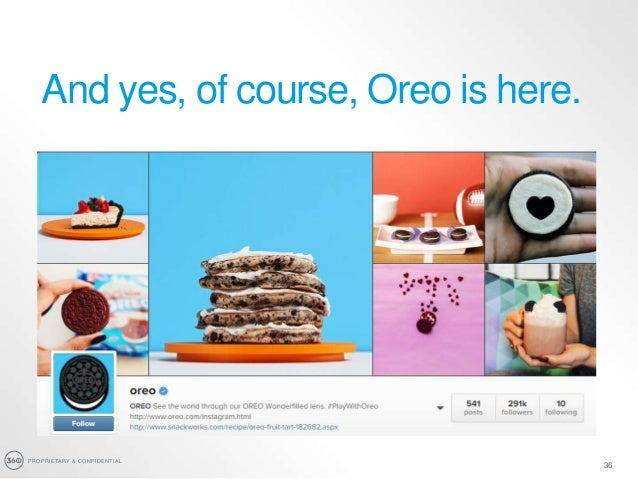 PROPRIETARY & CONFIDENTIAL 36 And yes, of course, Oreo is here.