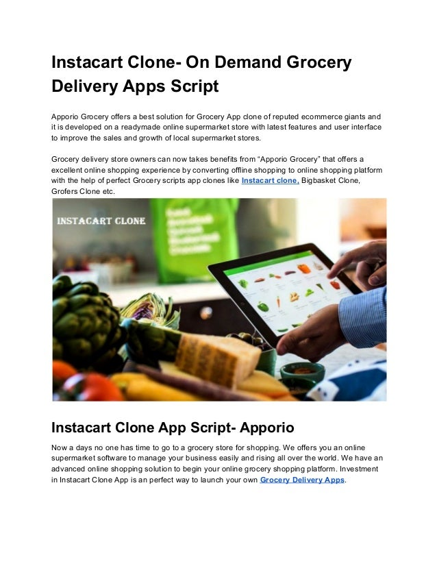 Local Sales Apps >> Instacart Clone App Script Apporio