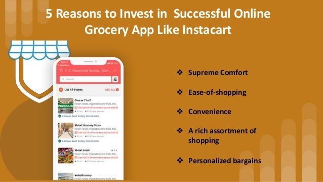 Instacart Clone : On Demand White-label Grocery Delivery App Slide 2