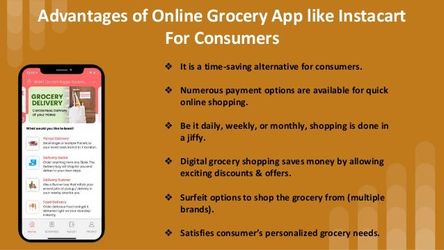 Instacart Clone : On Demand White-label Grocery Delivery App Slide 3