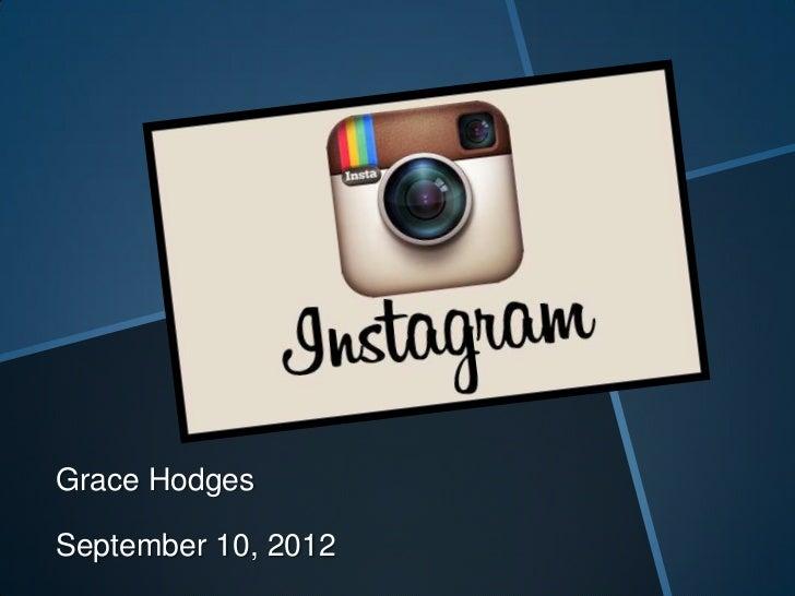 Grace HodgesSeptember 10, 2012