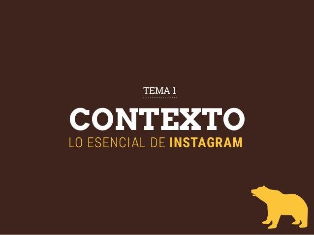 CONTEXTO LO ESENCIAL DE INSTAGRAM TEMA 1
