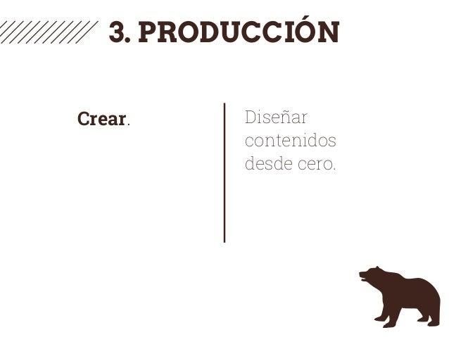 3. PRODUCCIÓN Crear. Diseñar contenidos desde cero.