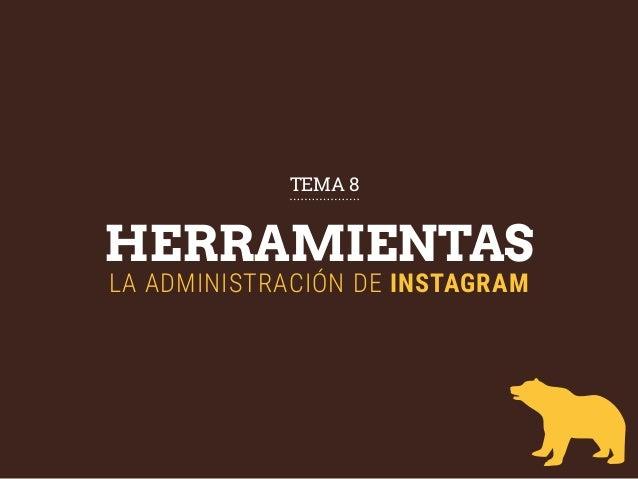 HERRAMIENTAS LA ADMINISTRACIÓN DE INSTAGRAM TEMA 8