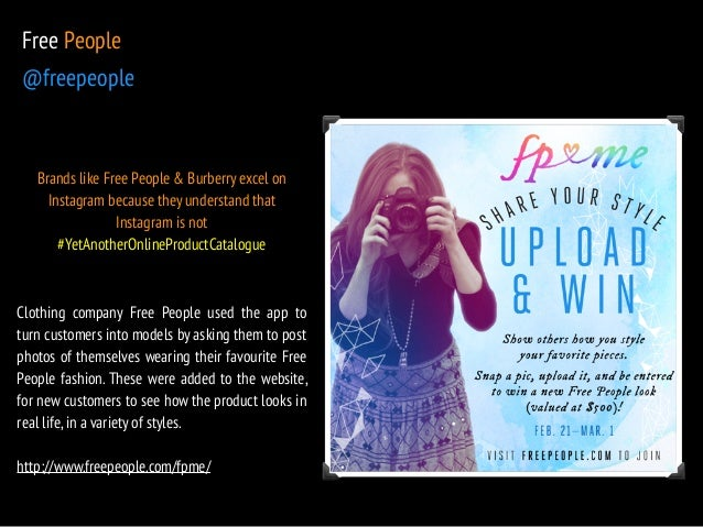 Free People  @freepeople  Brands like Free People & Burberry excel on  Instagram because they understand that  Instagram i...