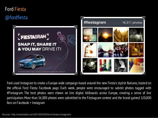 Ford Fiesta  @fordfiesta  Ford used Instagram to create a Europe-wide campaign based around the new Fiesta's stylish featu...