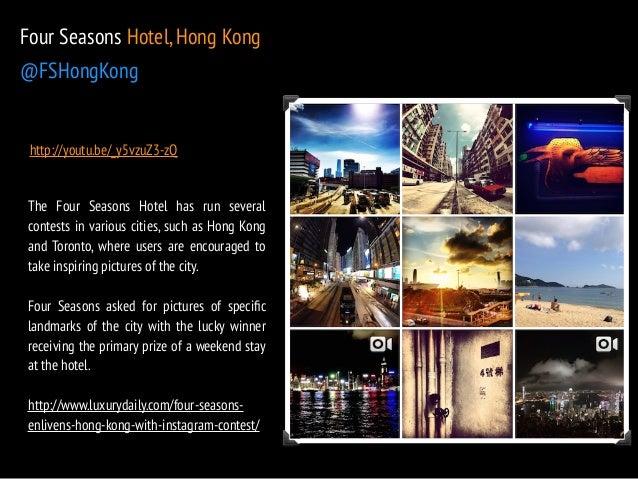 Four Seasons Hotel, Hong Kong  @FSHongKong  http://youtu.be/_y5vzuZ3-zQ  The Four Seasons Hotel has run several  contests ...