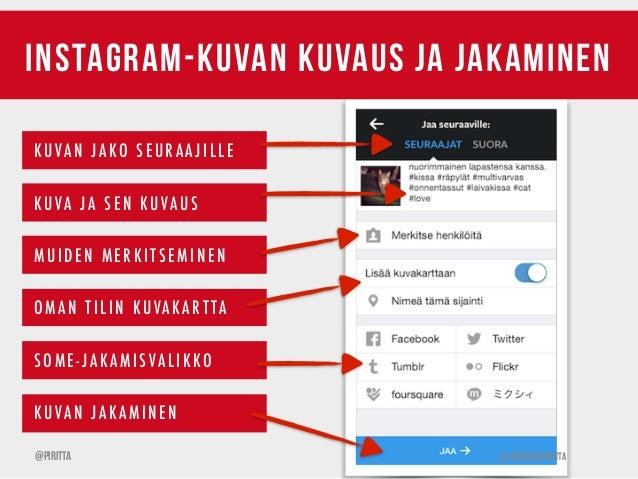 Instagram Jakaminen