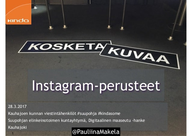 @PauliinaMakela1 28.3.2017 Kauhajoen kunnan viestintähenkilöt #suupohja #kindasome Suupohjan elinkeinotoimen kuntayhtymä, ...