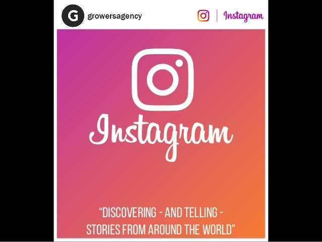 """""""Discovering - and telling - stories from around the world"""" Instagram"""