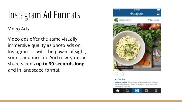 Instagram Ad Formats Video Ads Video ads offer the same visually immersive quality as photo ads on Instagram — with the po...