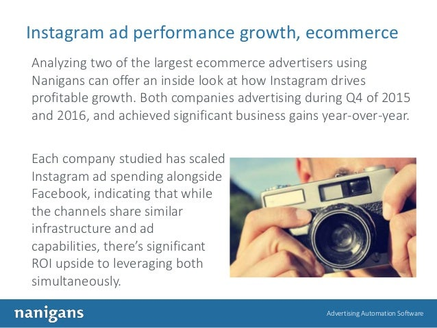 Advertising Automation Software Instagram ad performance growth, ecommerce Analyzing two of the largest ecommerce advertis...