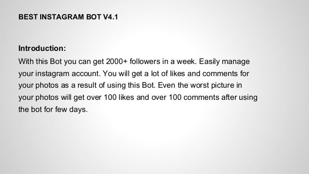 Instagram bot autolike feature how to get instagram likes