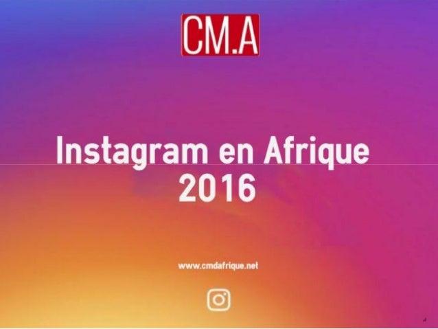 Chiffres Instagram en Afrique pour 2016