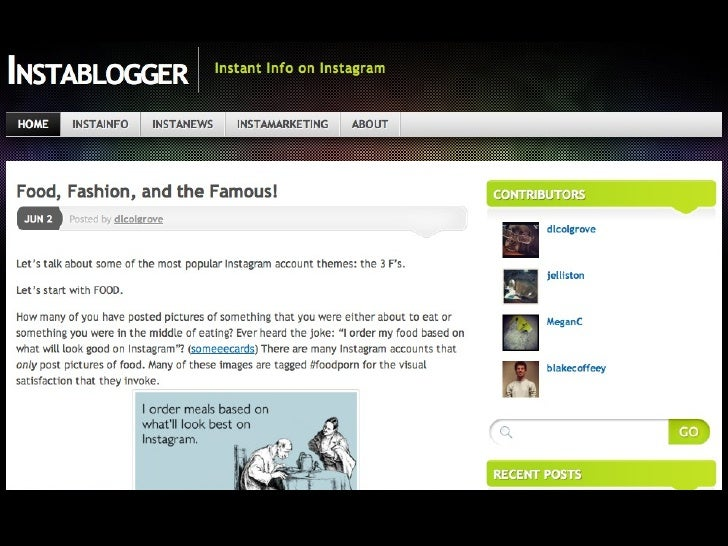 "InstabloggerMarketing: •   Registered blog with Google, Yahoo!, Bing, & StumbleUpon •   Created ""Instablogger"" Facebook pa..."