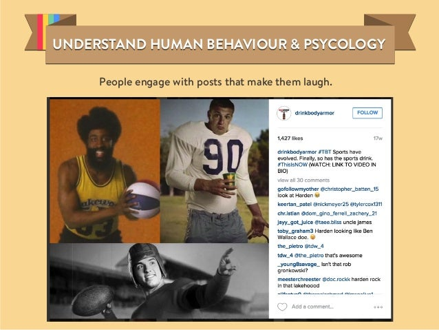 People engage with posts that make them laugh. UNDERSTAND HUMAN BEHAVIOUR & PSYCOLOGYUNDERSTAND HUMAN BEHAVIOUR & PSYCOLOG...