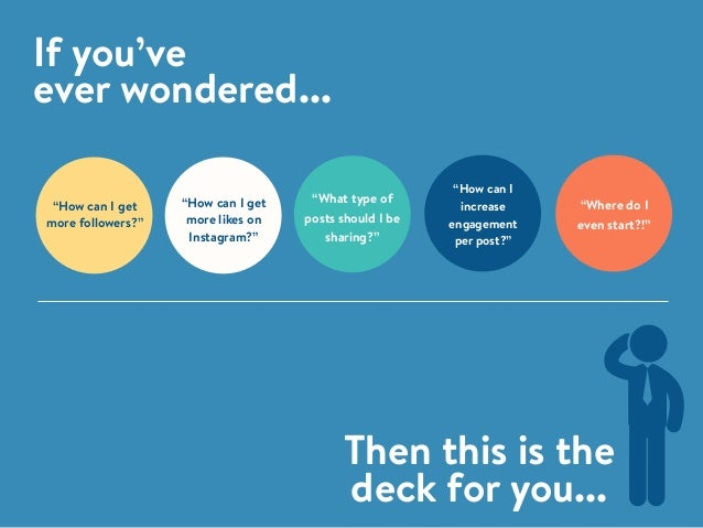 "If you've ever wondered... Then this is the deck for you... ""Where do I even start?!"" ""How can I increase engagement per p..."