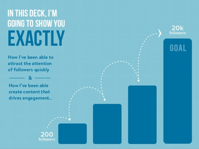 In this deck, I'm going to show you exactly How I've been able create content that drives engagement… How I've been able t...