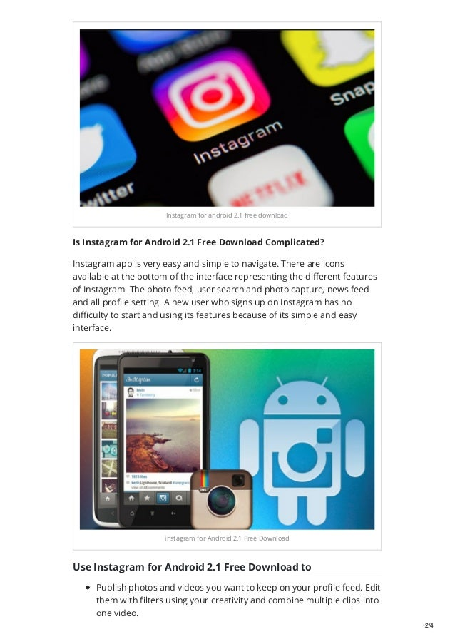 Instagram for android 2 1 free download