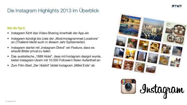 Die Instagram Highlights 2013 im Überblick  Hier die Top 5: ! Instagram führt das Video-Sharing innerhalb der App ein ! ...