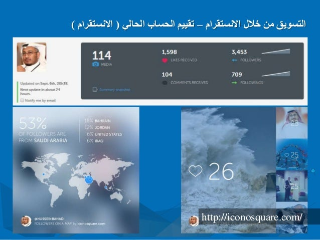 االنستقرام خالل من التسويق–الحالي الحساب تقييم(االنستقرام) http://iconosquare.com/