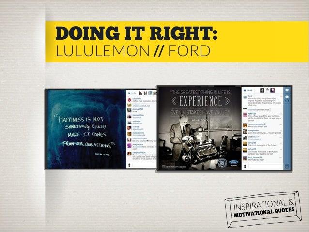 DOING IT RIGHT: LULULEMON // FORD