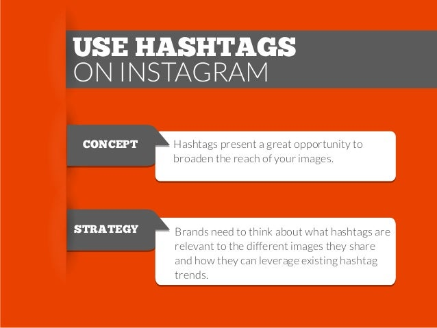 USE HASHTAGS ON INSTAGRAM CONCEPT  STRATEGY  Hashtags present a great opportunity to broaden the reach of your images.  Br...