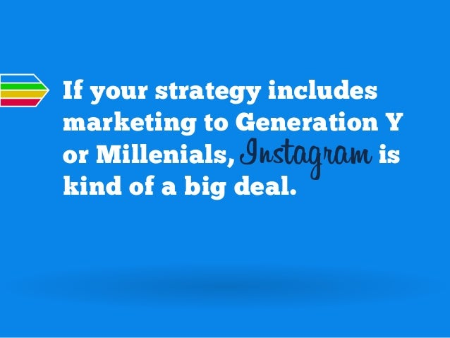 If your strategy includes marketing to Generation Y or Millenials, Instagram is kind of a big deal.