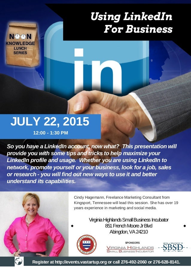So you have a LinkedIn account, now what? This presentation will provide you with some tips and tricks to help maximize yo...