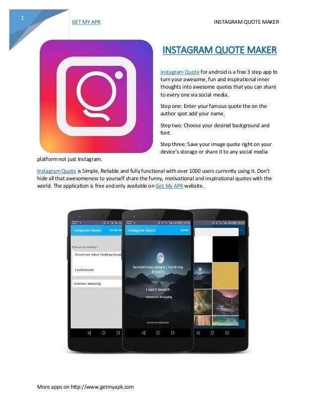 Instagram Quote Maker Brilliant Instagram Quote Maker