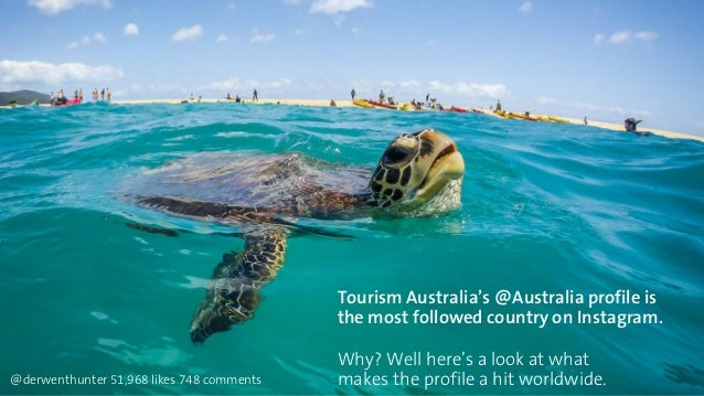 Tourism Australia's @Australia profile is  the most followed country on Instagram.  Why? Well here's a look at what  @derw...