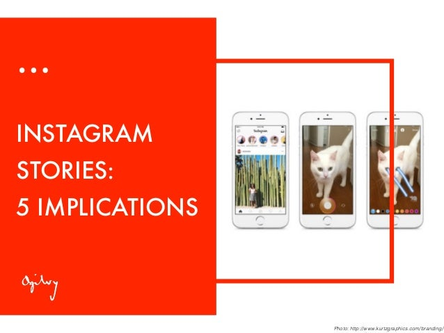 INSTAGRAM STORIES: 5 IMPLICATIONS Photo: http://www.kurtzgraphics.com/branding/