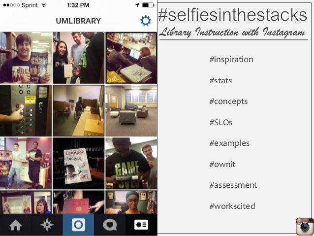 #inspiration #stats #concepts #SLOs #examples #ownit #assessment #workscited #selfiesinthestacks Library Instruction with ...