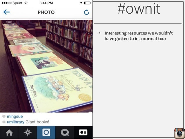 #ownit • Interesting resources we wouldn't have gotten to in a normal tour