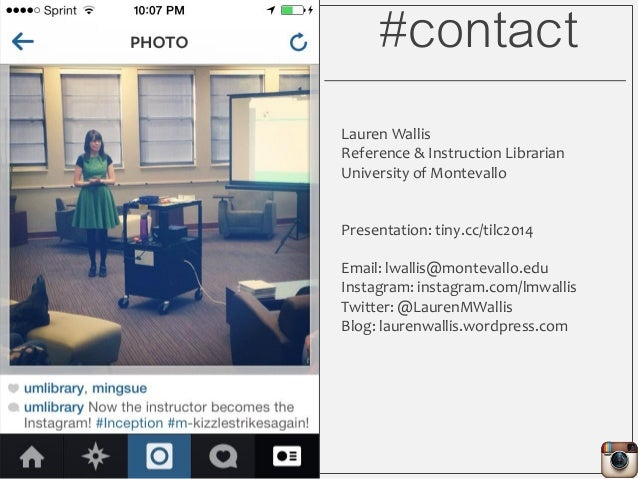 Library Instruction with Instagram