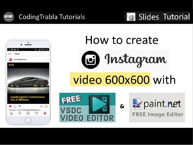 How to create Instagram video with VSDC free video editor