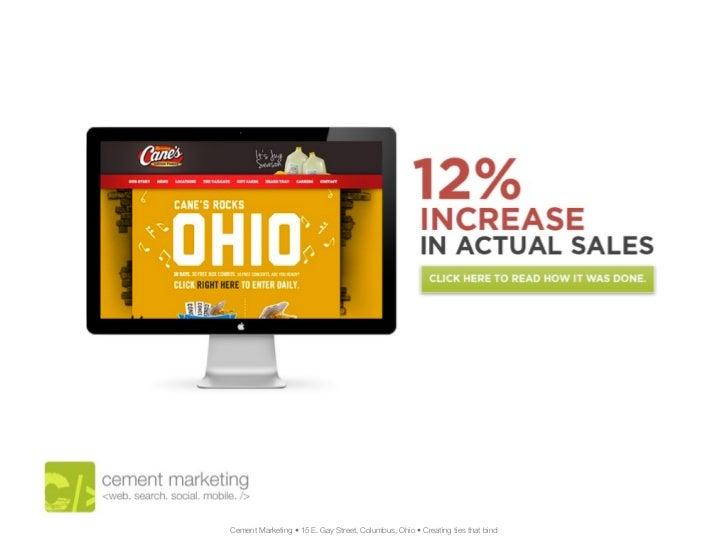 Cement Marketing • 15 E. Gay Street, Columbus, Ohio • Creating ties that bind