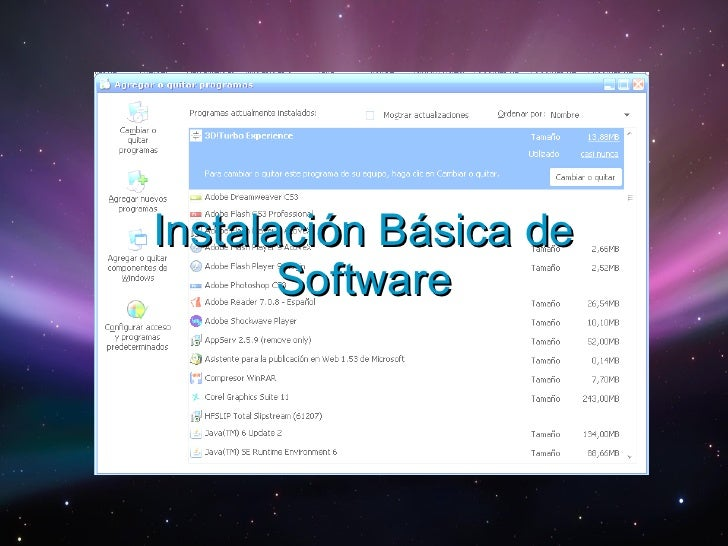 Instalación Básica de Software