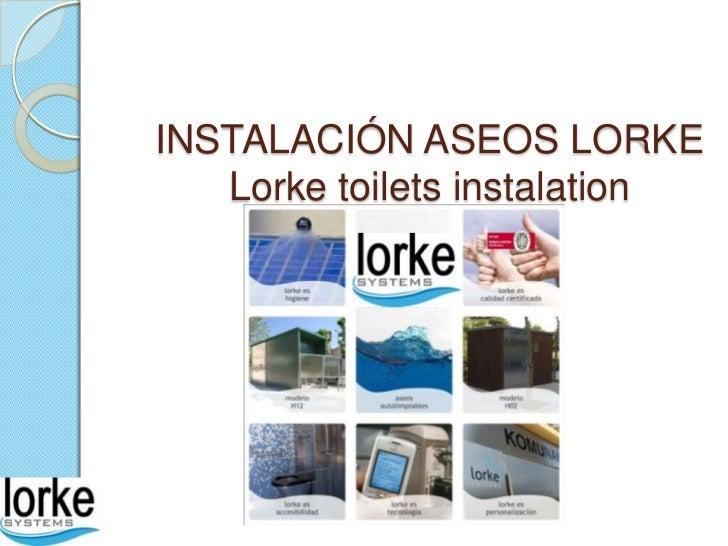 INSTALACIÓN ASEOS LORKE   Lorke toilets instalation