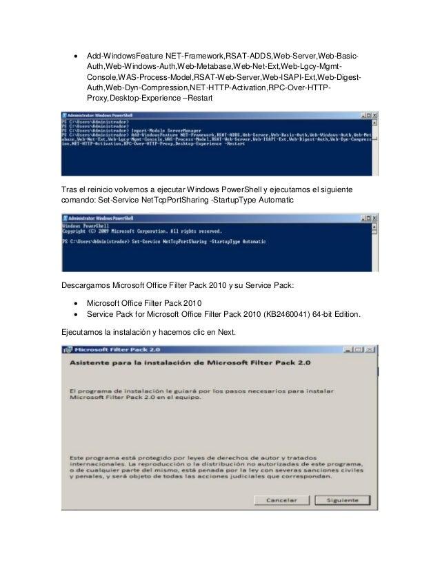 Servidor de correo en windowsserver - Office filter pack for exchange 2010 ...
