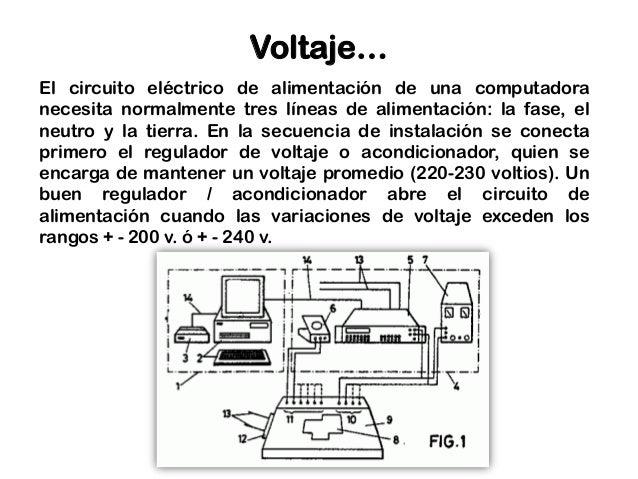 Circuito Regulador De Voltaje : Instalación eléctrica de un equipo computo