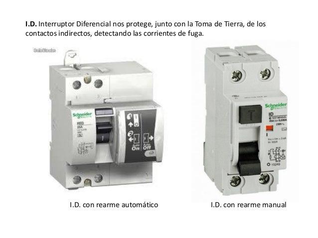 Instalaci n el ctrica interior de la vivienda for Diferencial rearme automatico