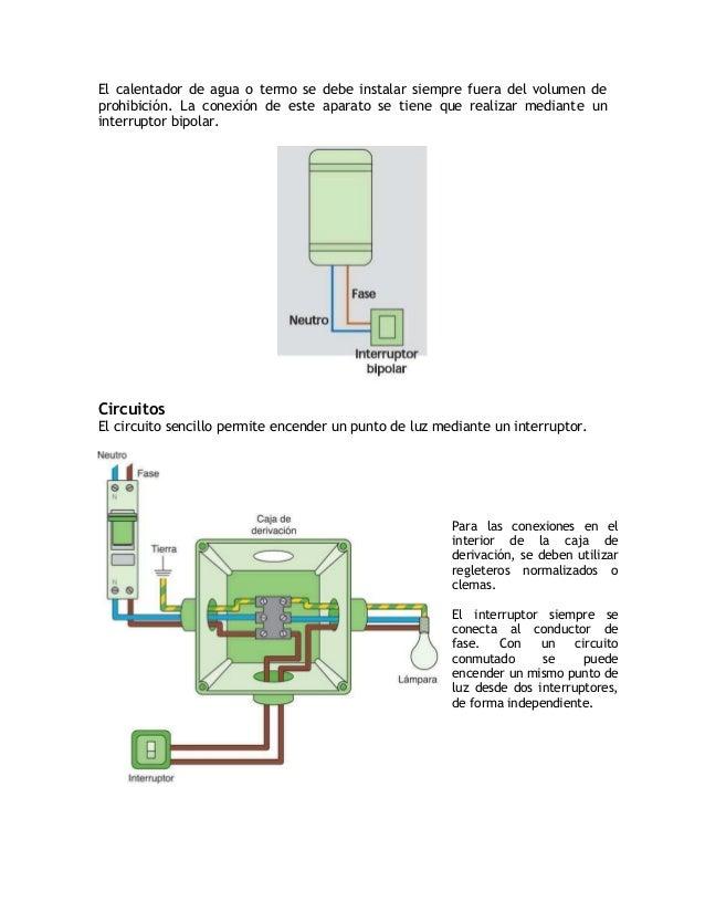 Con un circuito conmutado se puede encender un mismo punto de luz desde dosinterruptores, de forma independiente.El conduc...