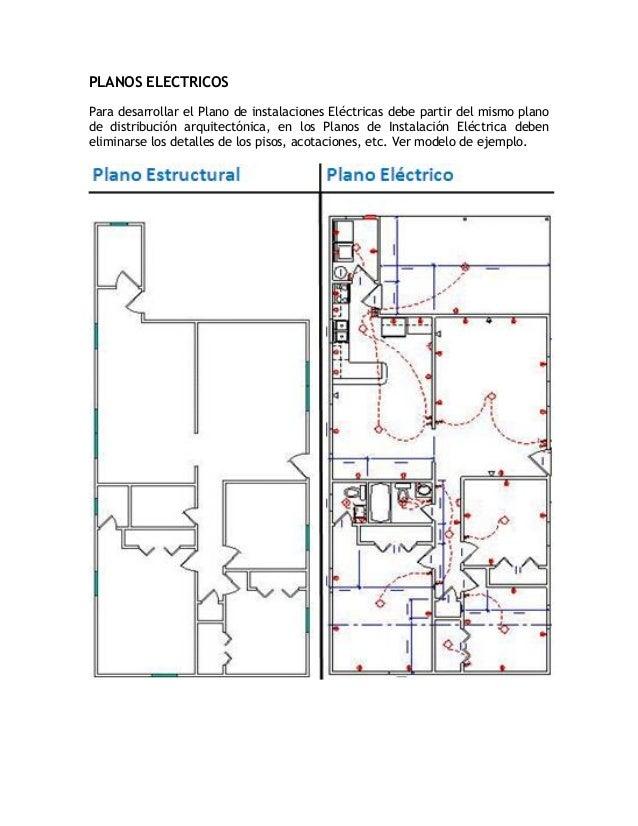 PLANOS ELECTRICOSPara desarrollar el Plano de instalaciones Eléctricas debe partir del mismo planode distribución arquitec...